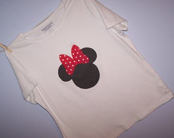 Personalized MiNNie MouSe HeaD Custom Boutique T SHIRT Tee Applique Polka Dot