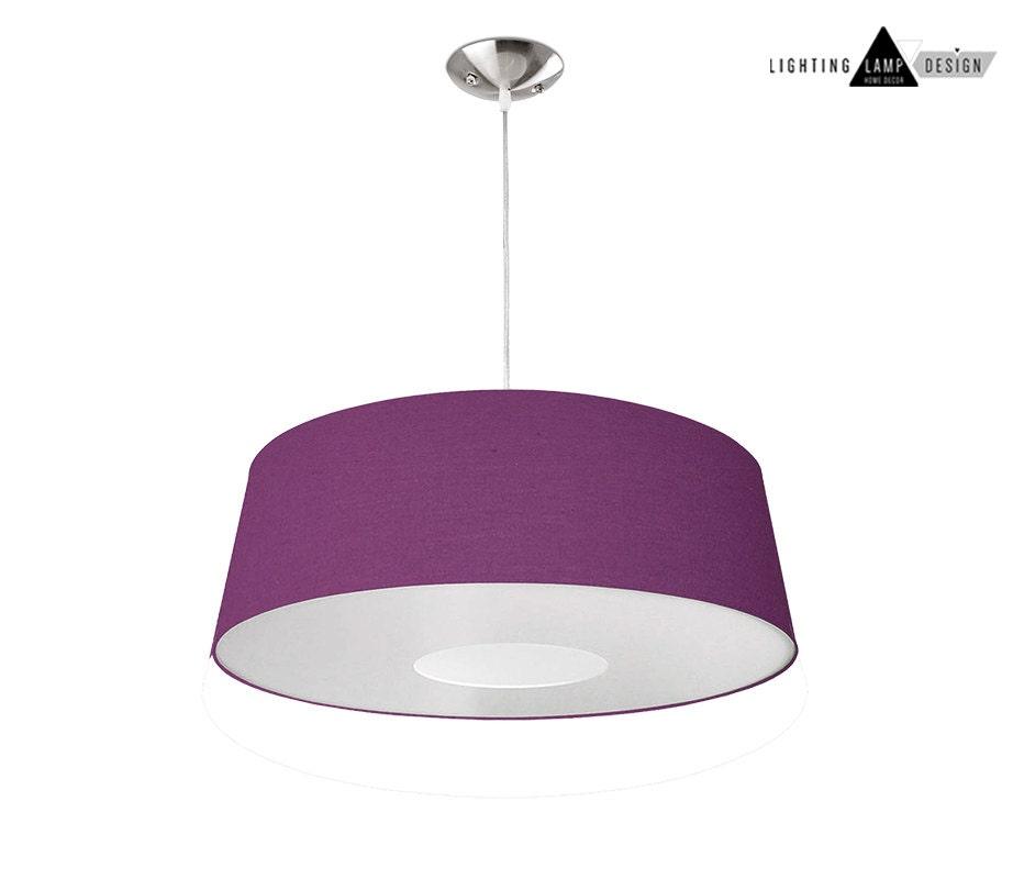 Ponz home design purple pendant lamp with white diffuser lighting ponz home design purple pendant lamp with white diffuser lighting home decor custom lamp shade modern lampshade aloadofball Choice Image