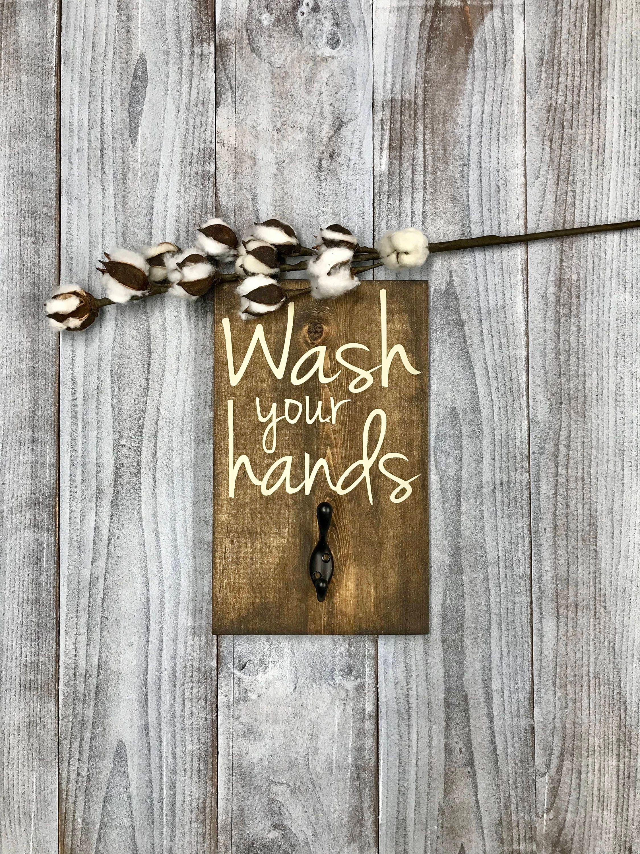 Rustikale Bad-Holz-Schild rustikale Bad waschen Sie Ihre