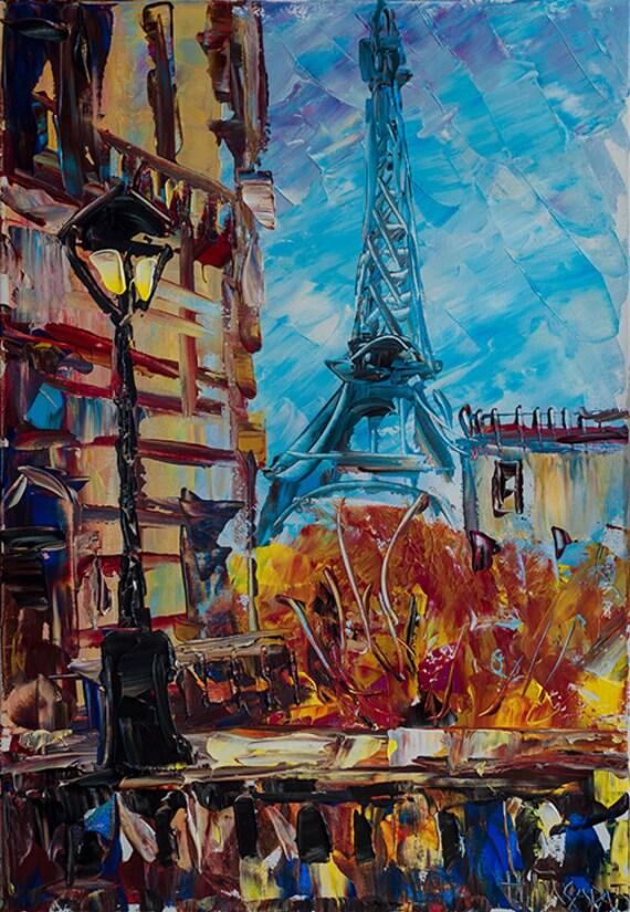 Parigi torre eiffel quadri francia wall art pittura arte di for Quadri di parigi