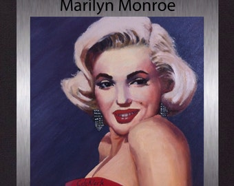 Marilyn Monroe - Original Oil Painting. Gallery Quality Fine Art. Free Shipping.