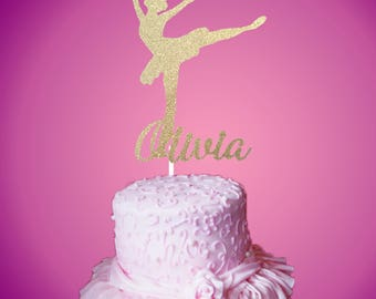 Ballerina Cake Topper,Ballerina, Dance Cake Topper,Dance Recital cake Topper,Personalized Cake Topper, Dance Recital Celebration