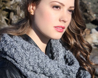 Scarf Crochet Pattern: Infinity Scarf with Boot Cuffs