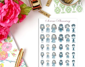 SP-094 Magical Wizards & Witches Ghosts Planner Stickers