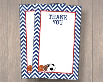Sports thank you cards, Baby shower Thank you cards, Baby shower