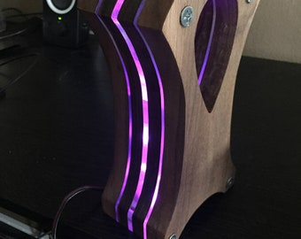 LED Headphone Stand - LED NOT included.