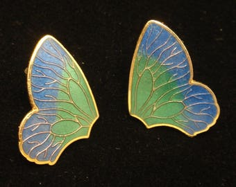 Enamel Butterfly Wings Earrings