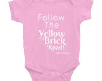 Follow The Yellow Brick Road Wizard Of Oz Infant Bodysuit