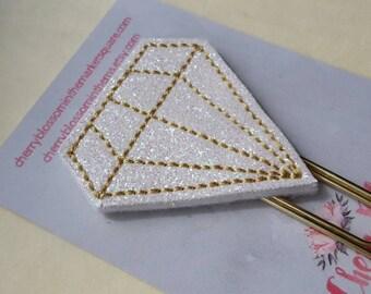 Diamond Gem Paper Clip Gold