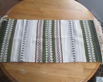 Handwoven Table Runner or Scarf Reversible