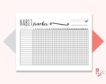 HABIT TRACKER Happy Planner Printable Insert, Create 365, Happy Planner Insert, Happy Planner Classic, MAMBI Planner, Instant Download