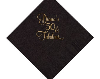 50 and Fabulous Napkins