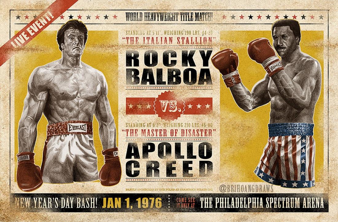 Rocky vs. Apollo 11x17 Print