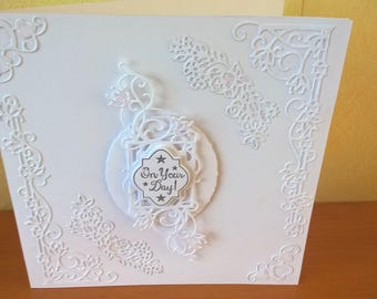 Handmade Luxury Wedding Card