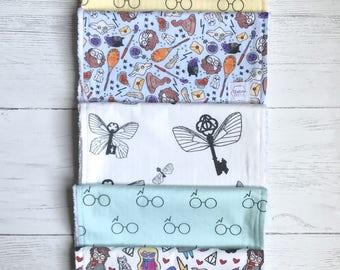 Harry Potter burp rag SET | little wizard burp cloths | harry potter baby | baby gift | Harry Potter theme nursery | potterhead | burp cloth