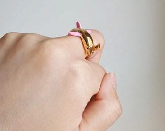 Shark Ring, Custom Colored Animal Wrap ring, Birthday Gift, Shark Jewelry