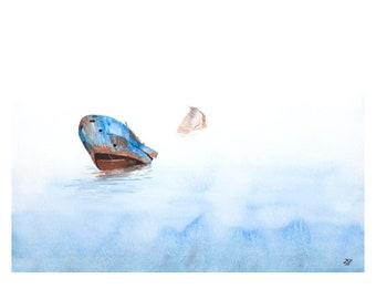 Shipwreck - Original Watercolor 11x14