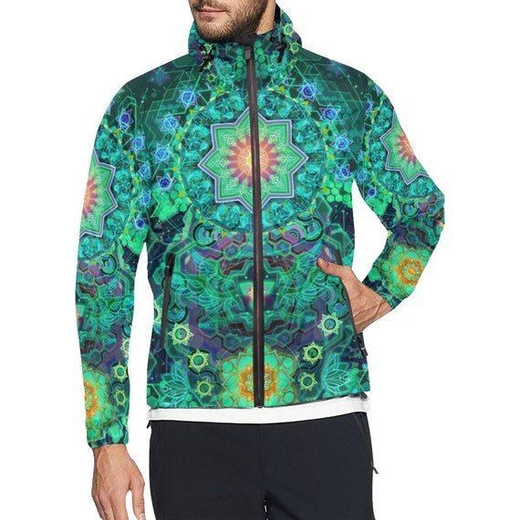 Men Geometry Futuristic Sacred Hippie Clothes Windbreaker Rave Ravewear Man Music Festival Jacket Clothes clothing Clothing Burning Clothing RwXS5OXx