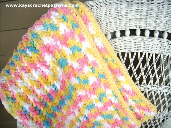 Quick And Easy Crochet Baby Blanket Patterns Set Of Two Instant