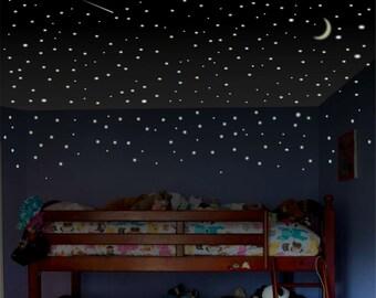 Merveilleux Boys Room Wall Decal, Glow Stars, Childrens Room Wall Decal, Toddler Room  Wall Decal, Ceiling Stars, Bedroom Stars, Glow In The Dark Stars