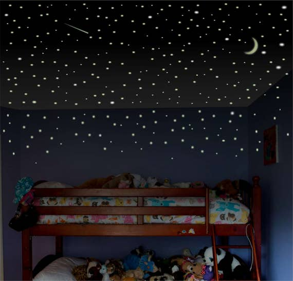 Boys Room Wall Decal Glow Stars Childrens