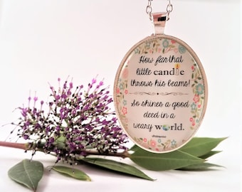Shakespeare Good Deed Necklace