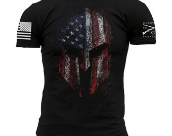 AMERICAN SPARTAN-Grunt Style graphic t-shirt