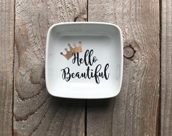 Jewelry Dish, Ring Dish, Personalized Ring Dish, Gift for Co Worker, Teacher Gifts, Dancer Gifts, Birthday Gifts, Bridesmaid Gifts, Jewerly
