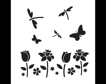 Field of Flowers - Art Stencil - Select Size - STCL1121 - by StudioR12