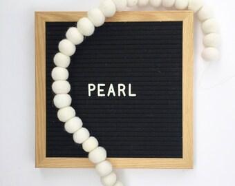 PEARL Pom Garland