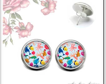Stud Earrings 5 version colors for choice fish OSH-012-432