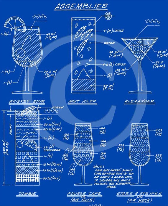 Martini cocktail mixed drinks construction blueprint recipe like this item malvernweather Choice Image