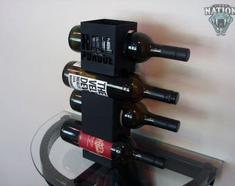 Hail Purdue Purdue Metal Wine Rack