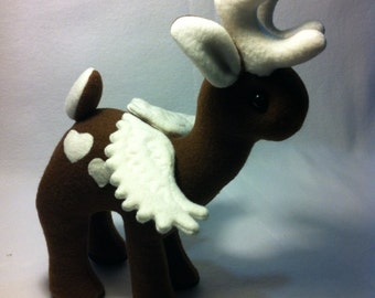 Winged Deer Eneh the Peryton Plush Plushie Toy