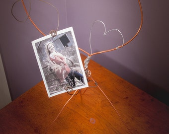 Copper Wire Heart Frame | Valentine's Day | Table Toppers  | Graduation | Weddings | Copper Decor | Frame | Display | Sculpture