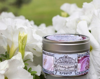 Pemberley Gardens | Pride and Prejudice Gift, Jane Austen candle, Mr Darcy, Bookish Gift, Soy Book Candle, Bookish Candles