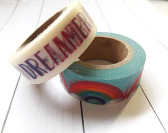 Rainbows & Dreamer Washi Tape Back To School Supplies/Embellishments/Paper Craft Supplies