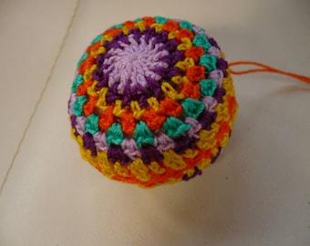 colorful ornament crochet cotton