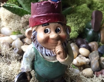 Gnome with bird on hat