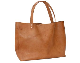 """Leather bag type Tote """"IXQUIC"""" by Condessa Leather M.R. 100% genuine, handmade."""
