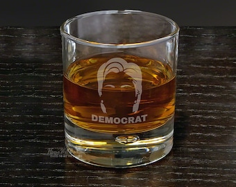 Hair of the Hillary Engraved Bryne Rocks Glass