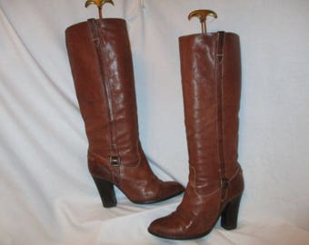 Vintage J.Crew tall leather boots size 8 1/2