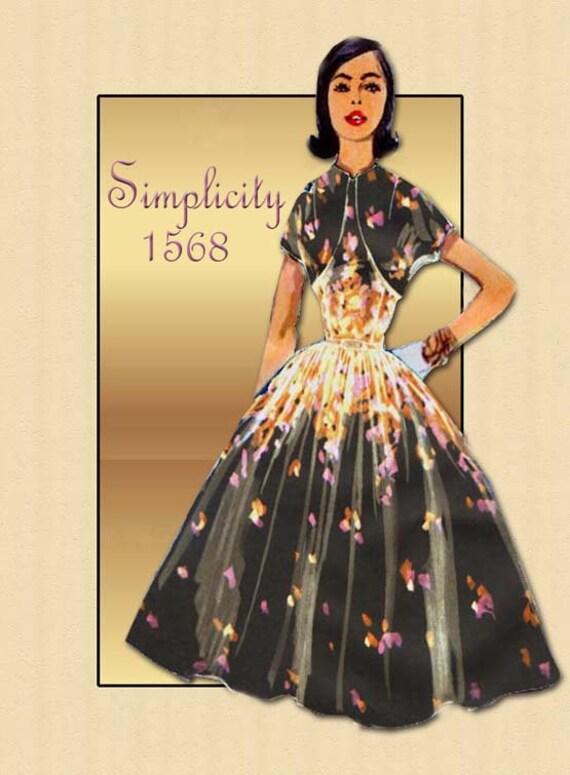 Schnittmuster der 1950er Jahre Einfachheit 1568 Sommer Gehrock