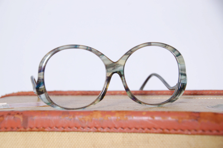 Vintage 70s Italian eyeglass frames / Tura watercolor
