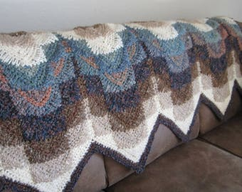 """SPECIALLY , PRICED ,  """"Darlene's Southwest Afghan Pattern"""" ... This is truly something different and fun to Crochet. this winter"""