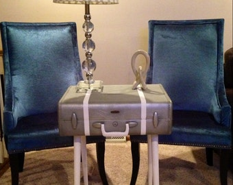 Repurposed Vintage Suitcase Side Table