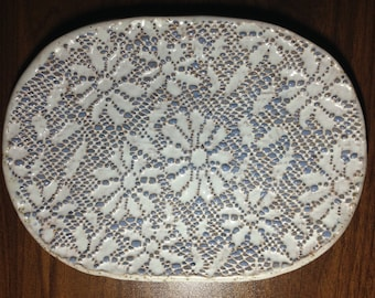 "Handmade ceramic plate for kitchen ""Gladness"""