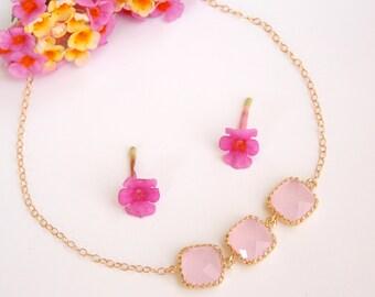 Wedding Jewelry, Ice Pink Bracelet,Soft Pink Gold Filled Bracelet, Bridesmaid Jewelry, Bridesmaid Bracelet, Bridesmaids Gift, Wedding Gifts