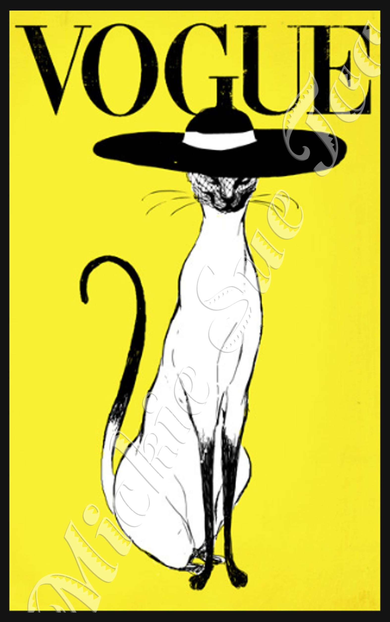 HAUTE CHAT en VOGUE High Fashion Siamese Cat on Vogue Cover