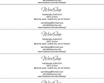 Business Name Contact Info Labels - PDF FILE ONLY